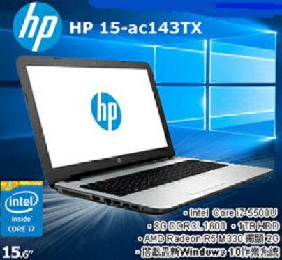 HP 15-ac143TX 15吋筆電 i7-5500U /8G/1TB/M330 2G獨顯/Win10