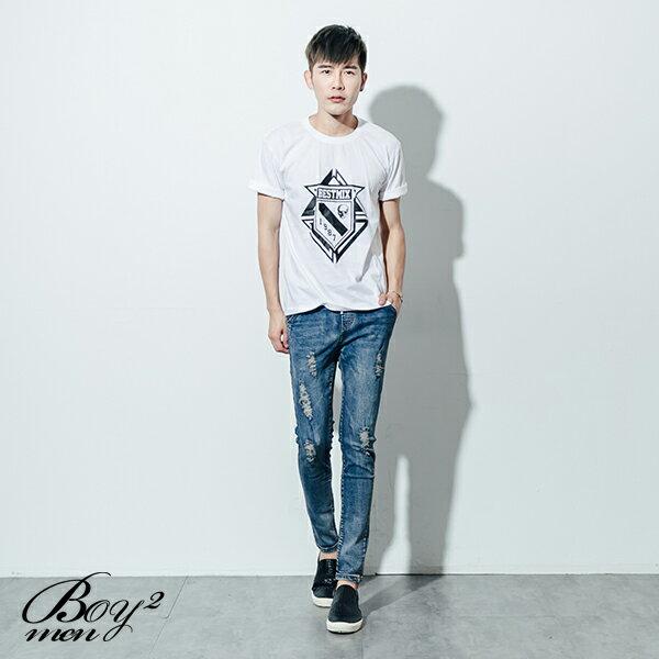 ☆BOY-2☆【ND5475】短袖T恤型男潮流美式素面骷髏星星印花短T 2