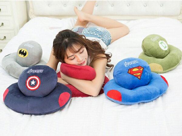 tangyizi輕鬆購【DS085】日系美國隊長超人蝙蝠俠午睡枕 辦公室趴睡枕 午睡神器 交換禮物