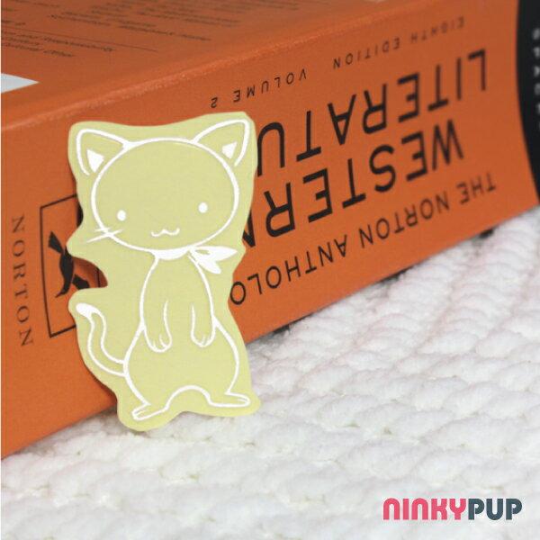 [寵物貼紙]  萬用反光貼紙  圍圍巾的貓 3*5cm