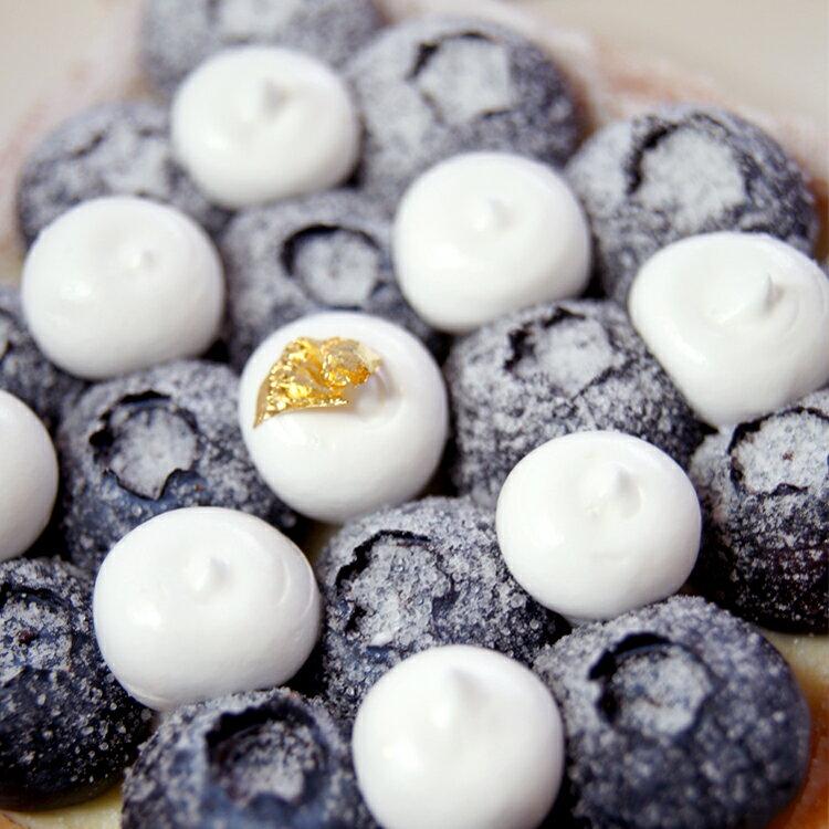 【甜點特務】[ 黑白棋盤藍莓塔 ] 新鮮藍莓+酥脆塔皮+香草卡士達 1