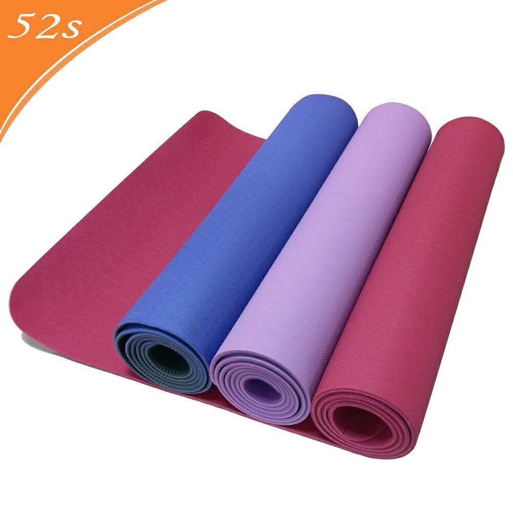 52s 環保TPE雙色止滑瑜珈墊 HSC-TPE5(附贈瑜珈背袋) 0