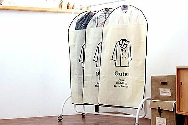 BO雜貨~SV2315~韓國棉麻衣物防塵罩 大衣外套收納 防塵 衣物收納 防塵袋 ^(大號