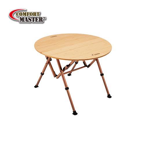 【露營趣】中和 附野餐籃 Coleman CM-14231 舒適達人休閒竹圓桌/85 竹板桌 摺疊桌 休閒桌