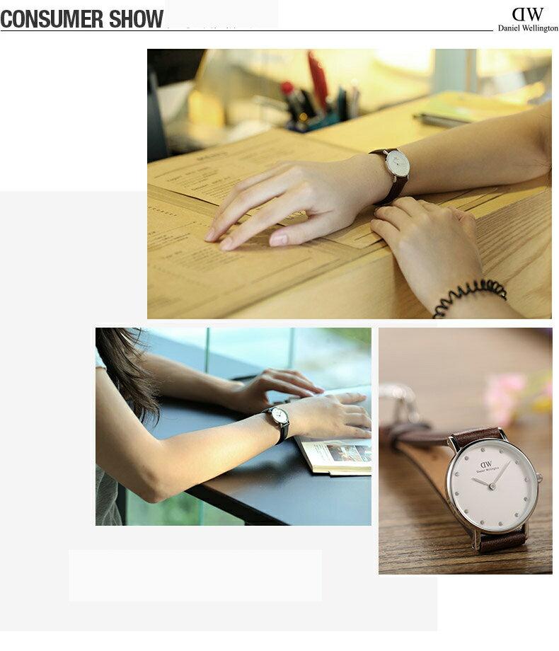 瑞典正品代購 Daniel Wellington 0920DW 銀 玫瑰金  真皮 錶帶 男女錶 手錶腕錶 26MM 2