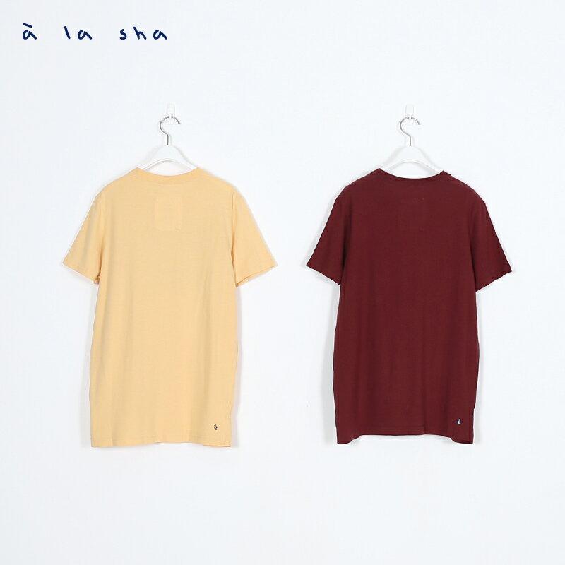 a la sha ALA圖案圓領短袖T (男) 3