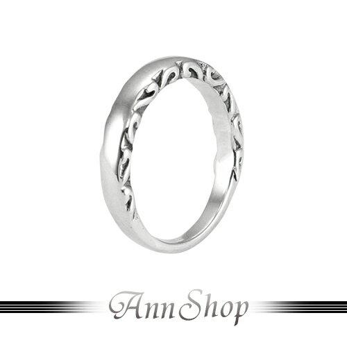 AnnShop~925純銀‧素面側刻紋戒指~銀飾飾品 情人 r92056 ~  好康折扣