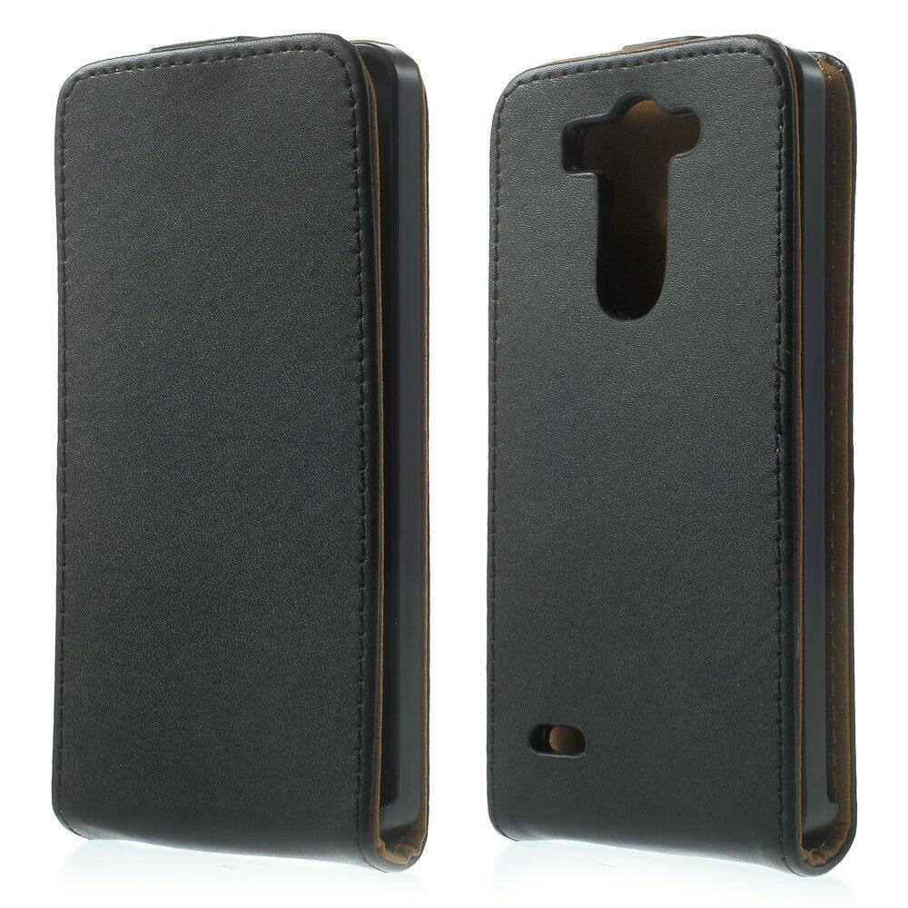 Funda Cuero Con Tapa NEGRA LG G3 S (Mini) + Protector Pantalla 3