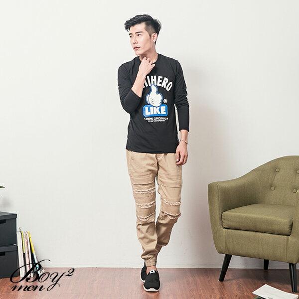 ☆BOY-2☆【JB1262-1】休閒LIKE按讚長T恤 2