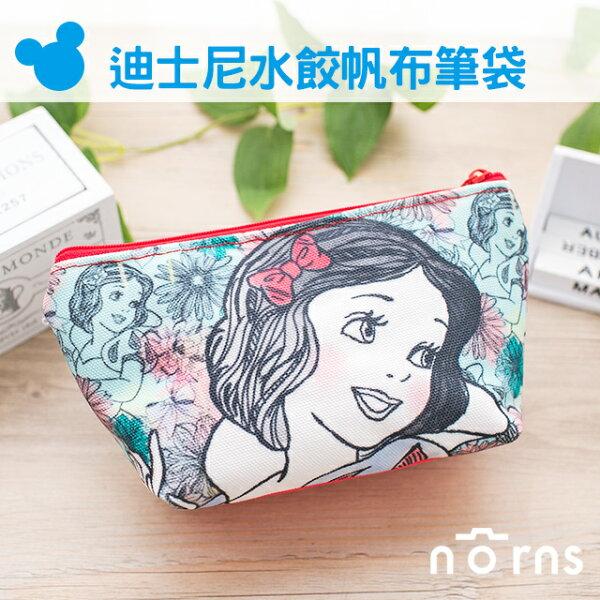 NORNS 【迪士尼帆布水餃筆袋】白雪公主 收納包 鉛筆盒