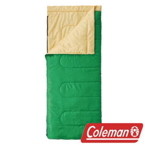 Coleman 表演者II萊姆綠睡袋/C10 睡袋 信封型睡袋 化纖睡袋 可雙拼連接 (舒適溫度:10℃) CM-27261M
