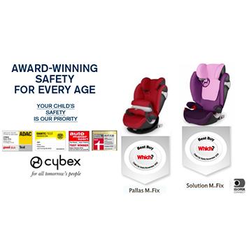德國【Cybex】Solution M-FIX 汽車安全座椅 (3~12歲) - 公主粉 1