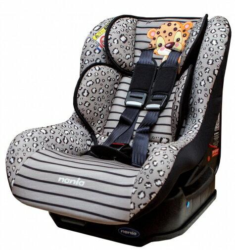 『121婦嬰用品館』納尼亞 安全汽座0~4歲基本款動物系列 - 花豹灰 FB00296 0