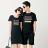 ◆快速出貨◆T恤.情侶裝.班服.MIT台灣製.獨家配對情侶裝.客製化.純棉短T.六彩橫條【YC007】可單買.艾咪E舖 0