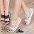 ★399免運★格子舖*【KP611】MIT台灣製 韓版流行搶眼雷射金屬 休閒實穿 厚底增高寬帶拖鞋 2色 0