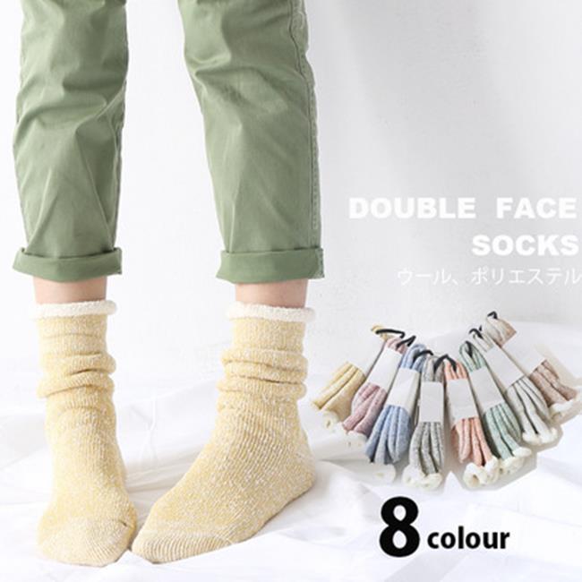 50^%OFF~W018397SK~新品 超厚實拉毛毛圈襪子加厚保暖純棉女襪空調地板襪孕婦