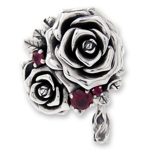 【海外訂購】【KONRON】我愛玫瑰純銀戒指(KRR0714-CZ) 1