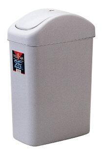 POLYWISE BI-5060 大天王星搖蓋紙林垃圾桶-灰色-(25L)台灣製造