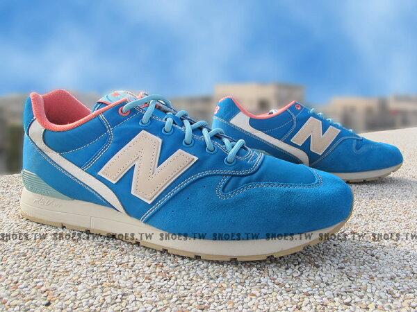 《超值4折》Shoestw【MRL996GA】NEW BALANCE NB996 水藍麂皮 卡其 桃紅 男女都有