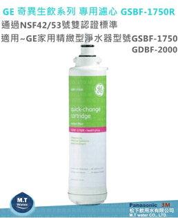 GE 奇異生飲系列專用濾心 GSBF-1750R 適用~GE 家用精緻型/複合雙效型淨水器 GSBF-1750/GDBF-2000