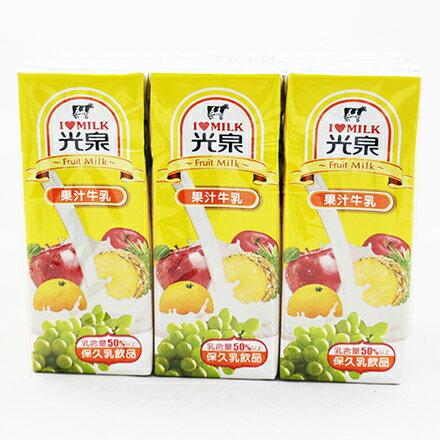 【敵富朗超巿】光泉果汁保久乳(200mlX6入) - 限時優惠好康折扣