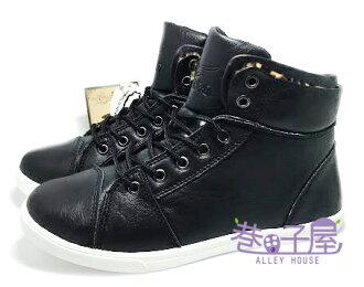 【巷子屋】T-EGO 女款兩穿韓風豹紋高統運動休閒鞋 [7353] 黑 MIT台灣製造 超值價$198