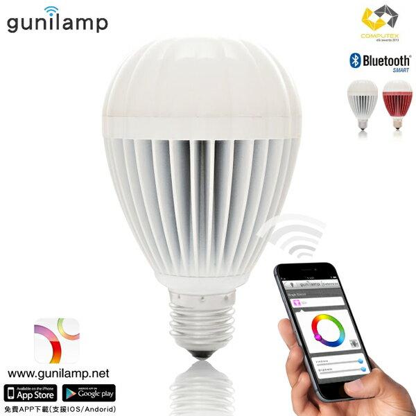 E&J 【EN5003】免運費,gunilam 手機APP控制亮度色彩 9W LED 燈泡 ,藍牙/情境燈/聖誕燈/省電