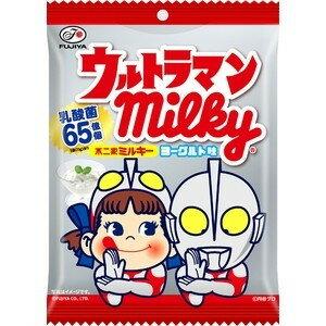 有樂町進口食品 日本進口 不二家 Peko&鹹蛋超人牛奶糖 優格味 73g J68 4902555116501 0