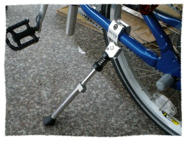 NUVO 20吋-28吋 可調式鋁合金側腳架 (銀色款)《意生自行車》