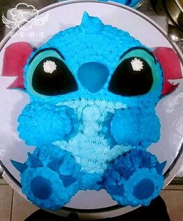 【戚風國度bite me-造型蛋糕】全身史迪奇~立體造型蛋糕~10吋生日蛋糕~可選擇巧克力蛋糕體或香草蛋糕體~