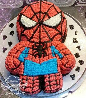 【戚風國度bite me-造型蛋糕】全身蜘蛛人~立體造型蛋糕~10吋生日蛋糕~可選擇巧克力蛋糕體或香草蛋糕體~