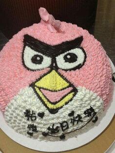 【戚風國度bite me-造型蛋糕】超怒的憤怒鳥 Engry Bird~立體造型蛋糕~8吋、10吋生日蛋糕~可選擇巧克力蛋糕體或香草蛋糕體~