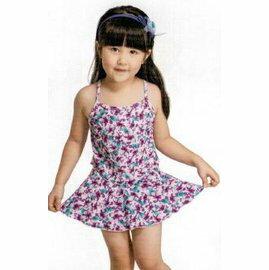 [陽光樂活] Let's jet 雷氏吉兒 女童兩件式泳衣 附泳帽 2243-07