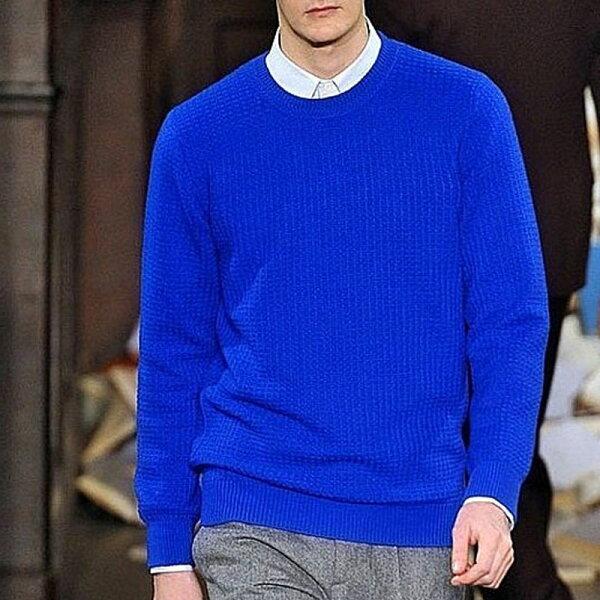 素色兔毛針織上衣毛衣