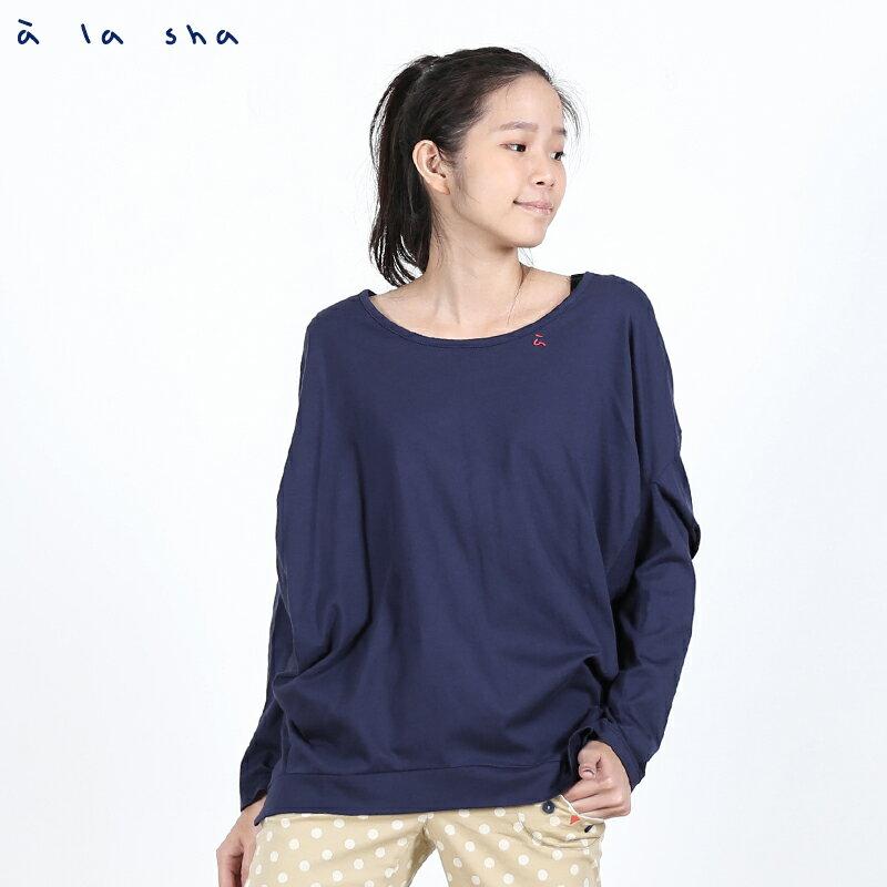 a la sha Qummi 方形剪接設計款T恤 1