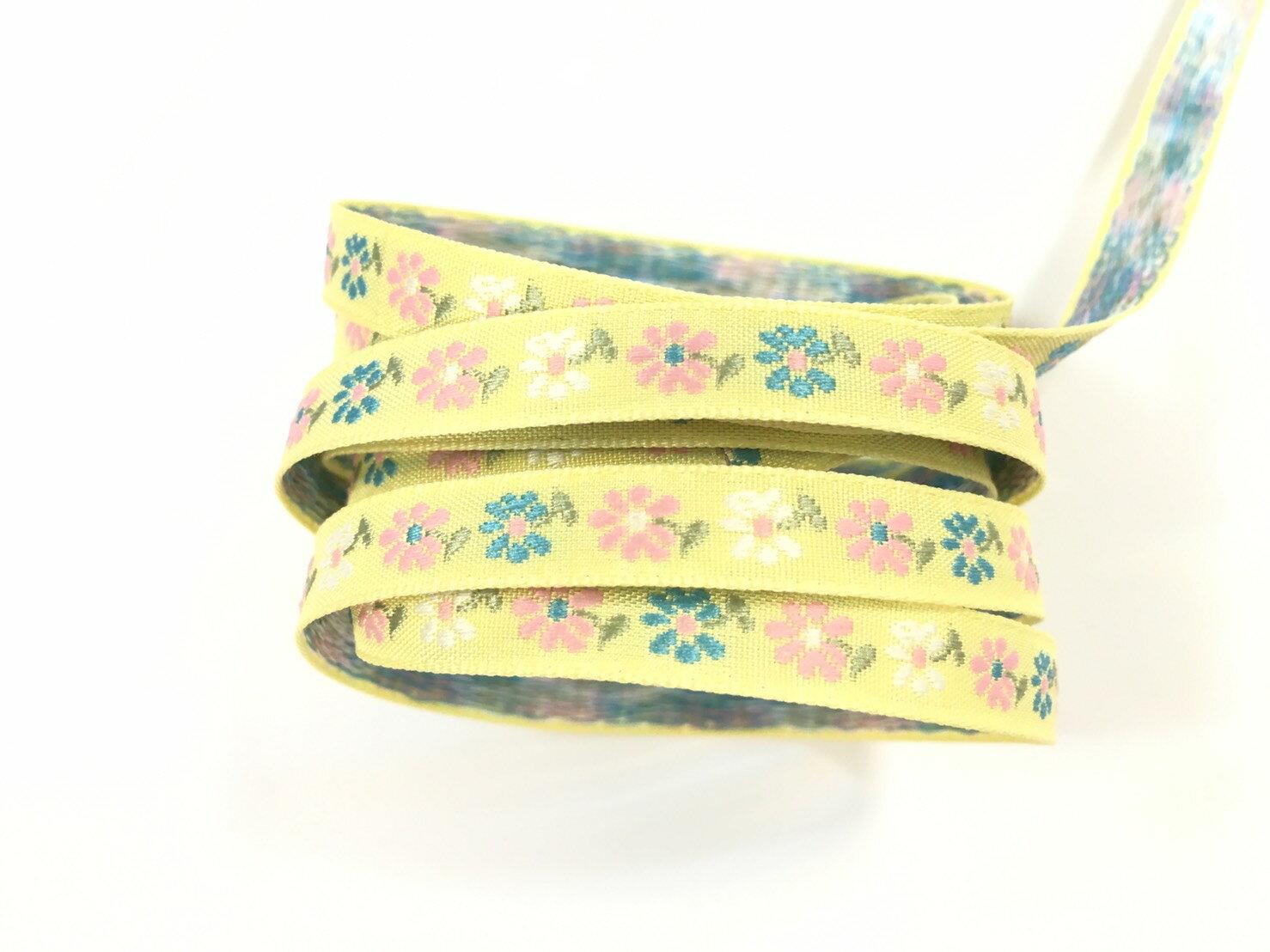 五瓣緹花緞帶 9mm 3碼 (7色) 0