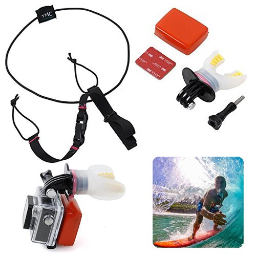 KIT SOPORTE NEGRO BOCA + BOYA + CINTA SURF KITE NADAR GOPRO HERO 2, 3, 3+,4, 4 SESSION Y SJ 0