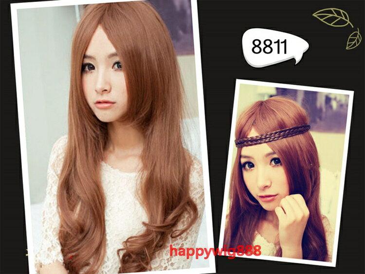 ~任四頂~贈髮網?韓國中分長卷髮 浪漫大波浪 美麗 全頂式假髮 捲長髮 8811 ~  好