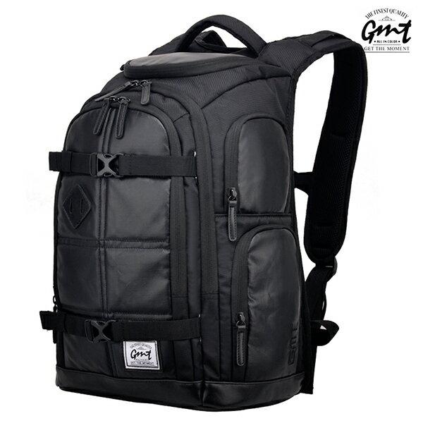 E&J【011008-01】免運費,GMT挪威潮流品牌 專業電腦背包 黑色 附17吋筆電夾層;登山包/雙肩豬鼻包