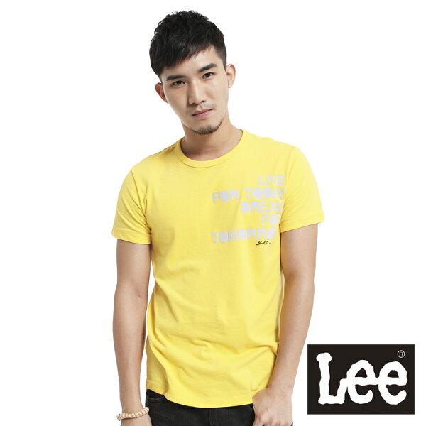 【 3折優惠↘ 】Lee 植絨文字印刷短袖T恤