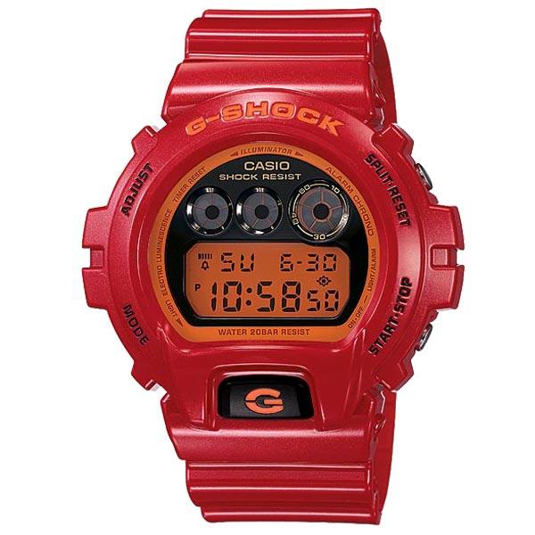 CASIO G-SHOCK DW-6900CB-4鮮紅數位流行腕錶/50mm
