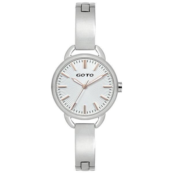 【易奇網】GOTO Sugar Lady 時尚腕錶-閃亮不鏽鋼殼x高雅首飾錶帶/32mm