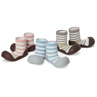 【本月特價$599】韓國【Attipas】快樂腳襪型學步鞋-花香藍 1