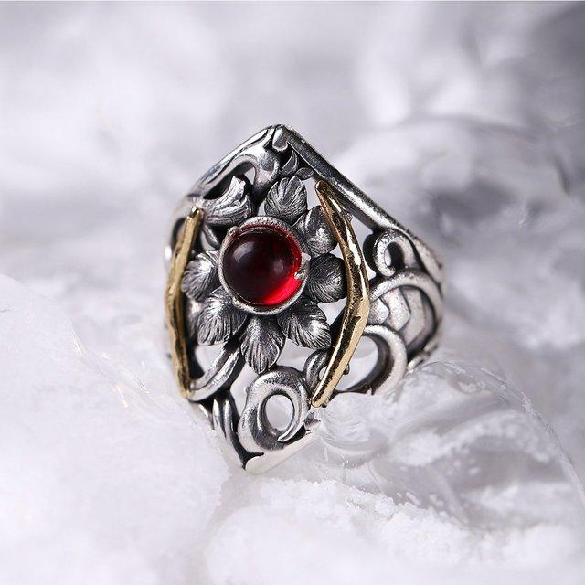【現貨商品】【Bloody Mary】Kerah 純銀戒指(BMR1380-sk-Ramb) 0