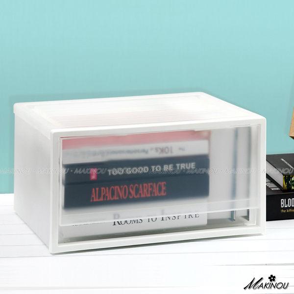 收納盒『日本MAKINOU無印風單格單層抽屜櫃』單格抽屜20L衣物整理箱 置物箱 牧野丁丁