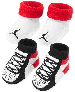 《★美國NIKE Jordan新生兒襪子禮盒組 2雙入 》彌月禮盒 滿月禮首選 美國專櫃正品購回