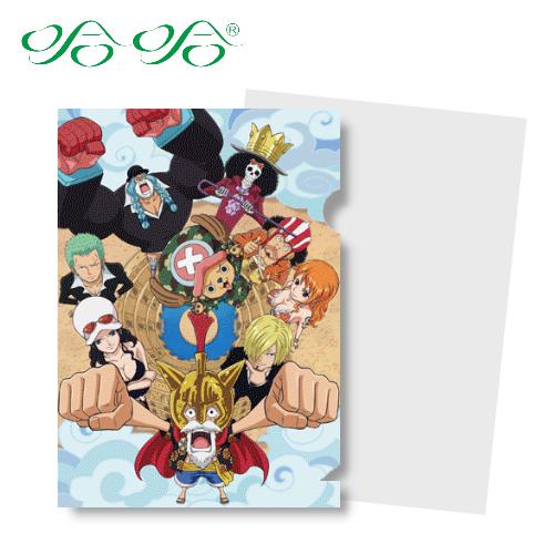 哈哈書套 LF-016 日本動漫 航海王 正版授權 海賊王 L型文件夾 (L夾- 羅馬版 )