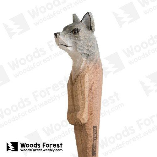 ^~絕版品^~ 木雕森林 Woods Forest ~ 動物木雕筆~大野狼~^( 筆質量輕