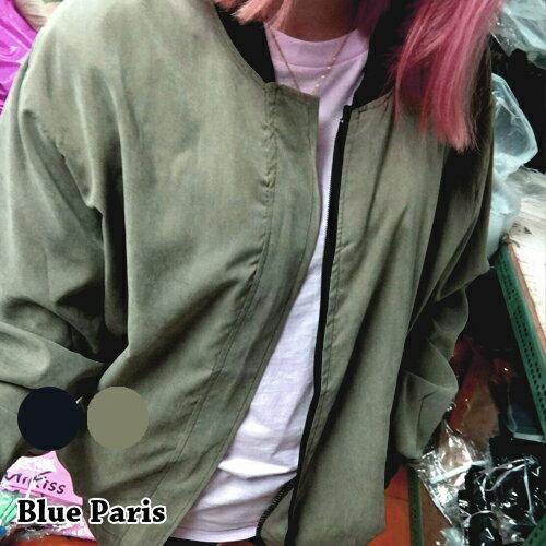 外套 - 手臂拉鍊設計羅紋下擺棒球外套【29185】藍色巴黎《2色》現貨 + 預購 0