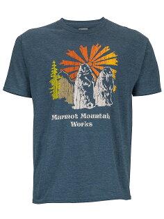 ├登山樂┤美國Marmot土撥鼠 Heritage 男款短袖混棉紡吸濕排汗衣 海軍藍#53610-8550